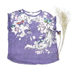 Anthropologie Postmark Butterfly T Shirt